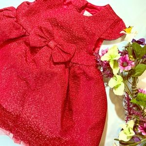 Cat & Jack Gorgeous Red Party Dress size 6-9 month